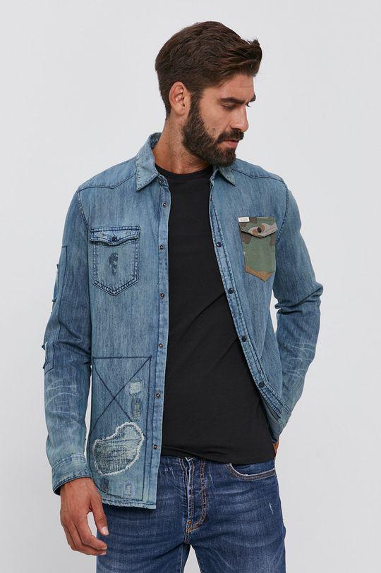 niebieski Guess - Koszula Męski