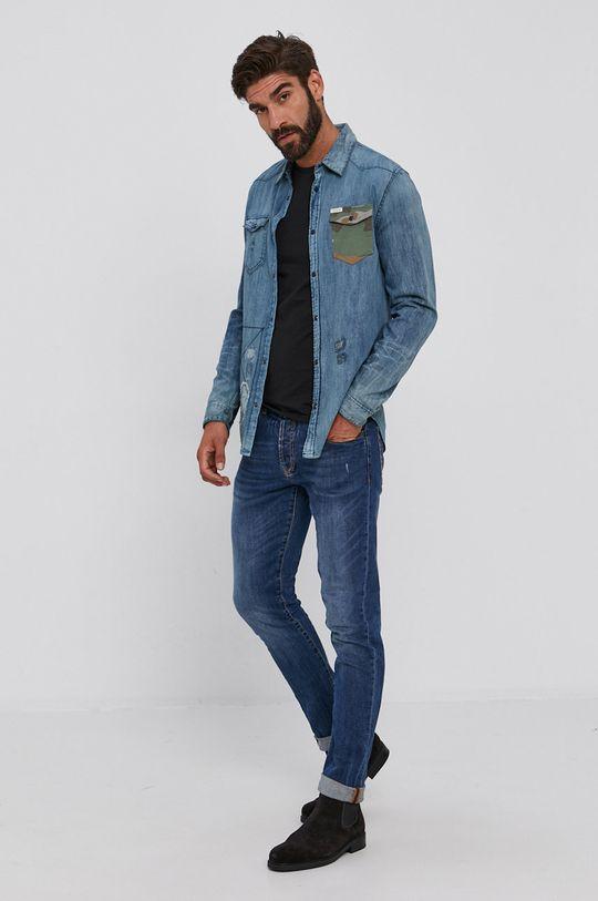 Guess - Koszula niebieski