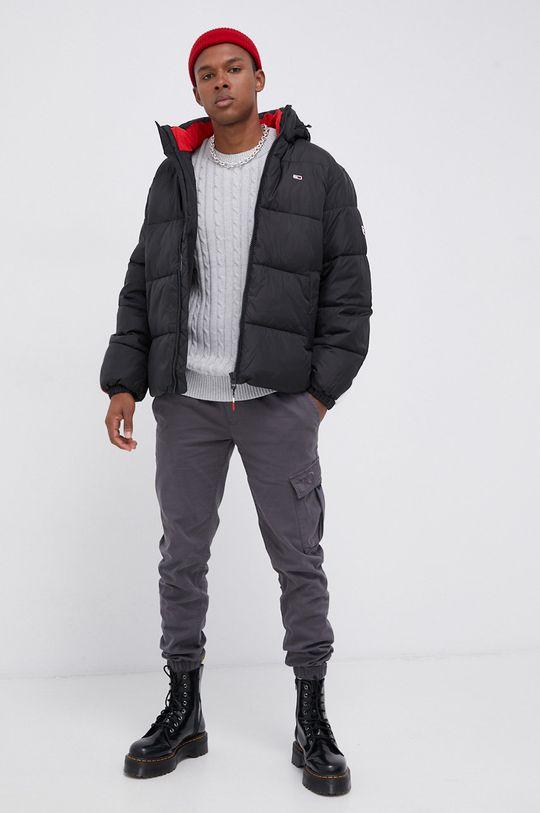 Tommy Jeans - Sweter jasny szary