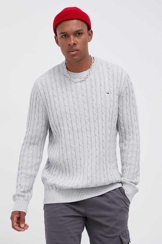 jasny szary Tommy Jeans - Sweter