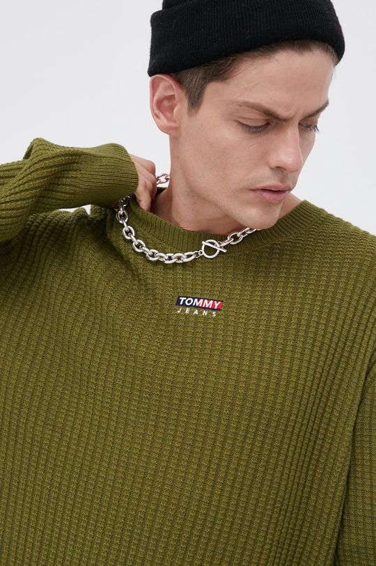 jasny oliwkowy Tommy Jeans - Sweter Męski