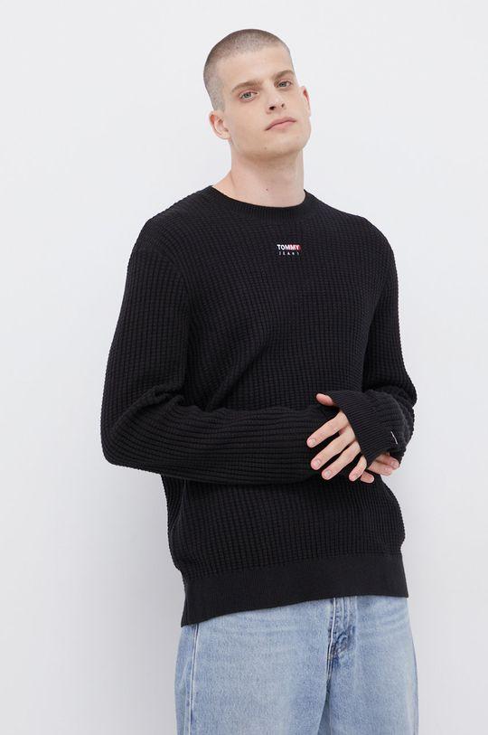 czarny Tommy Jeans - Sweter Męski