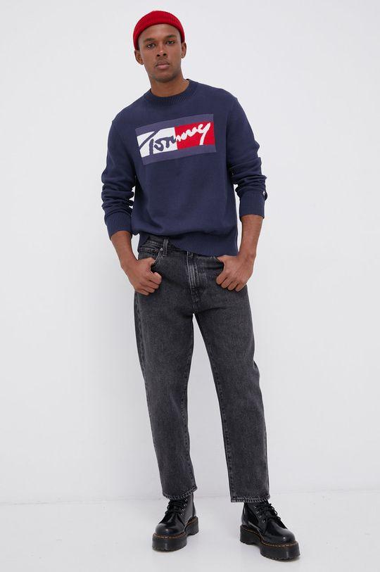 granatowy Tommy Jeans - Sweter Męski