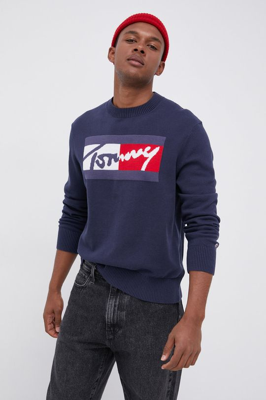 Tommy Jeans - Sweter granatowy