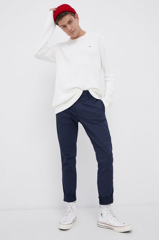 Tommy Jeans - Sweter kremowy