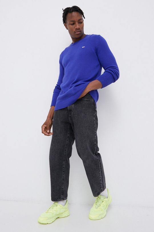 Tommy Jeans - Sweter fioletowy