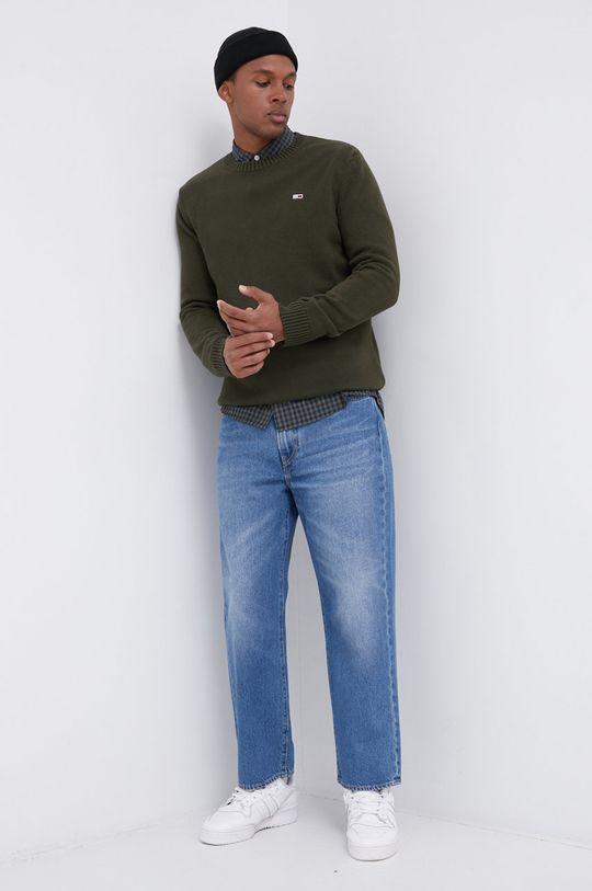 oliwkowy Tommy Jeans - Sweter Męski