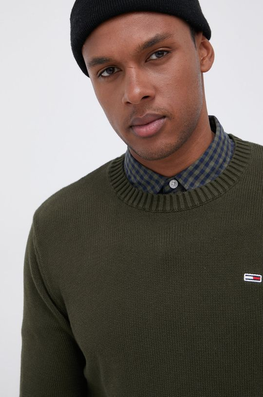 oliwkowy Tommy Jeans - Sweter