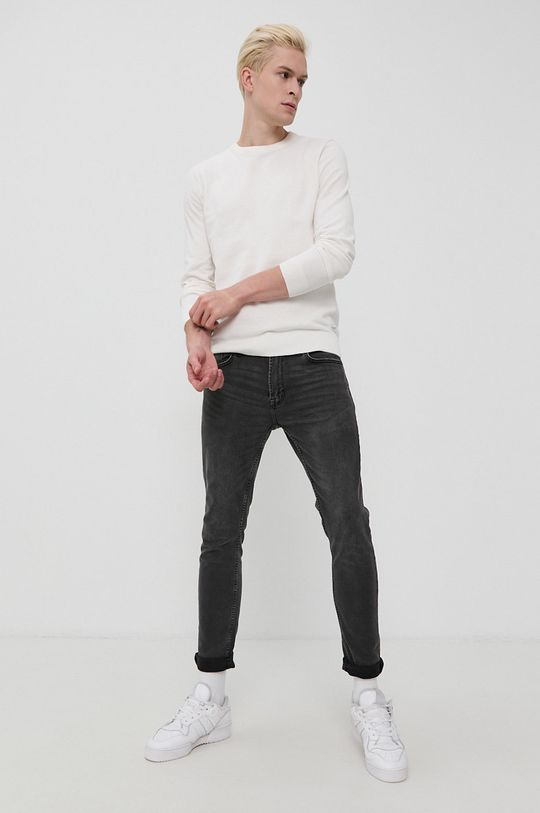 biały Tom Tailor - Sweter Męski