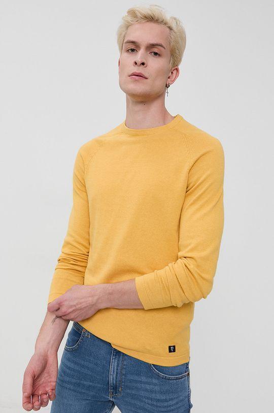 żółty Tom Tailor - Sweter Męski