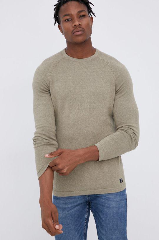 jasny oliwkowy Tom Tailor - Sweter Męski