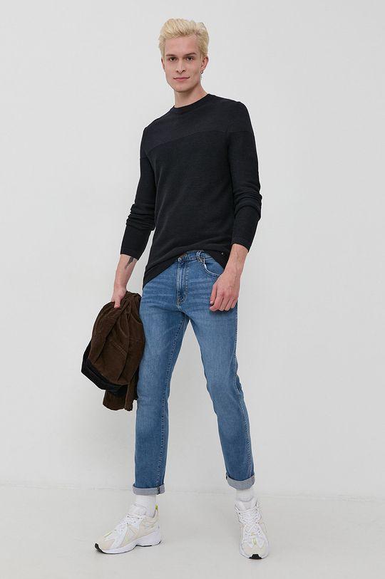 Tom Tailor - Sweter granatowy