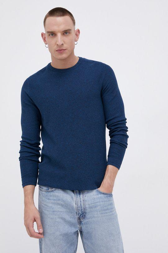 turkusowy Tom Tailor - Sweter bawełniany Męski