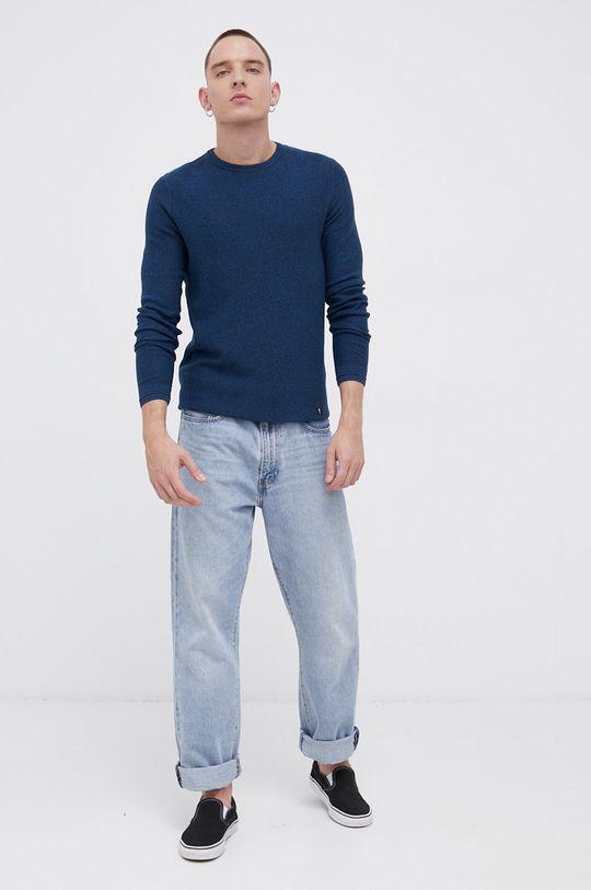 Tom Tailor - Sweter bawełniany turkusowy