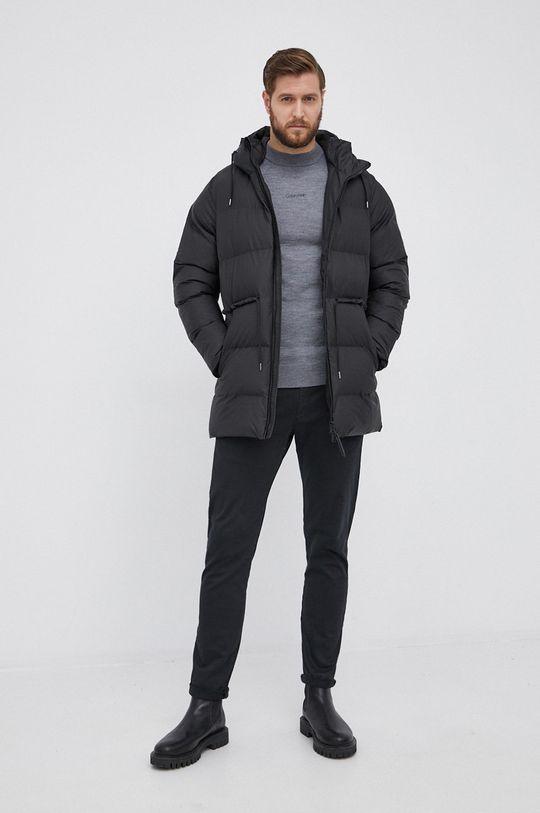 Calvin Klein - Sweter wełniany szary