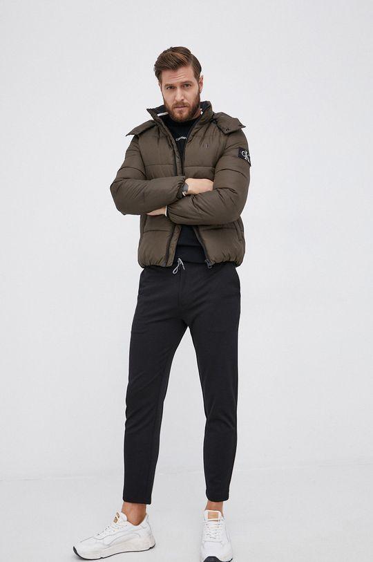 Calvin Klein - Sweter wełniany czarny