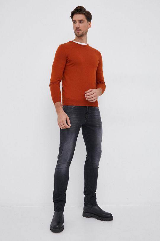 Hugo - Pulover de lana cupru