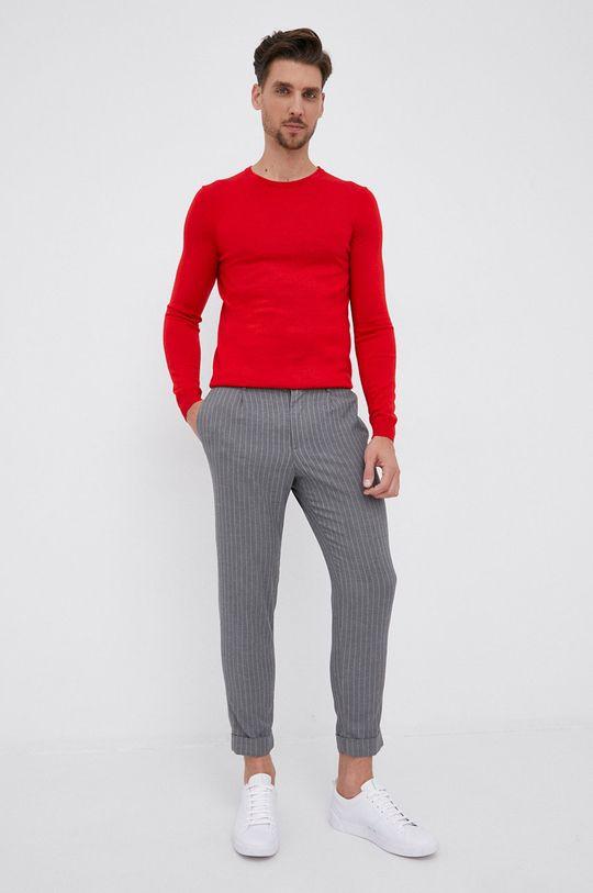 Hugo - Pulover de lana rosu