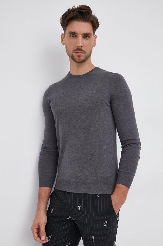 gri Hugo - Pulover de lana De bărbați