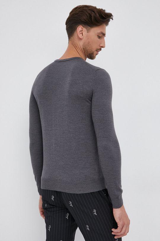 Hugo - Pulover de lana gri