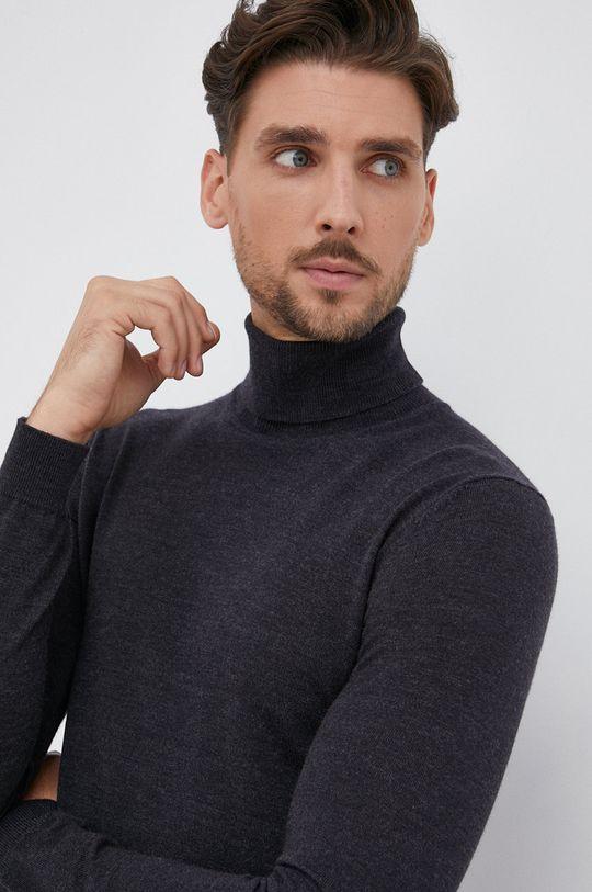 grafitová Hugo - Vlnený sveter Pánsky
