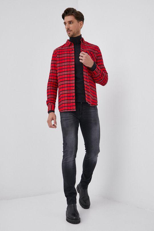 Hugo - Vlnený sveter grafitová