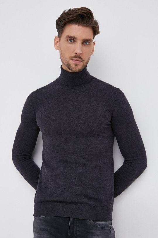 grafitová Hugo - Vlnený sveter