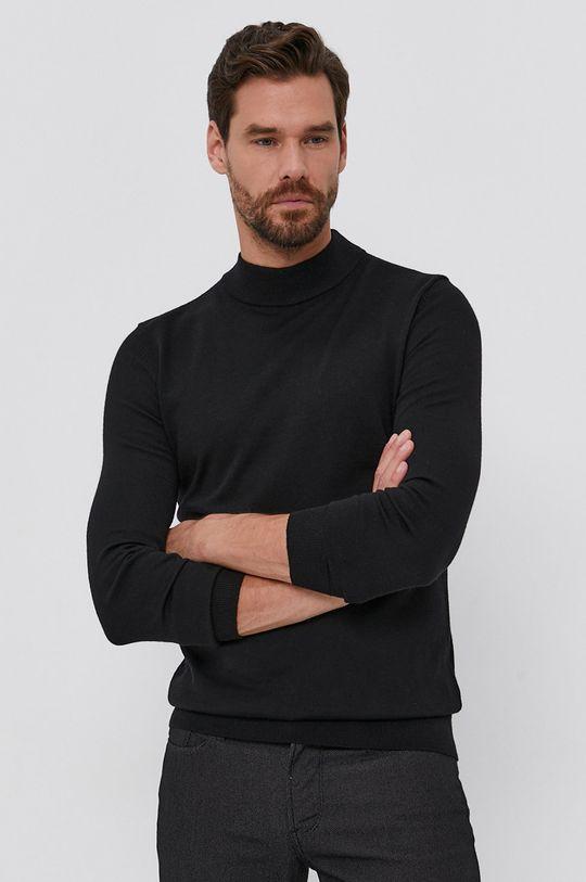 Hugo - Pulover de lana negru