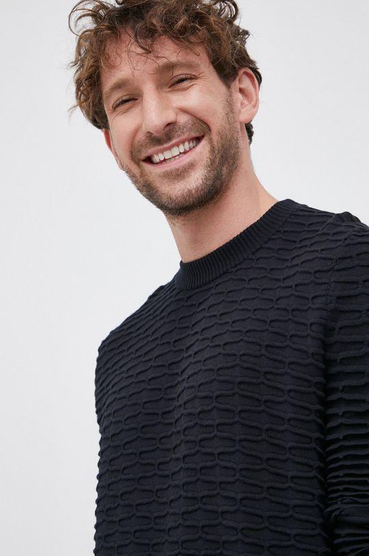 czarny Hugo - Sweter Męski