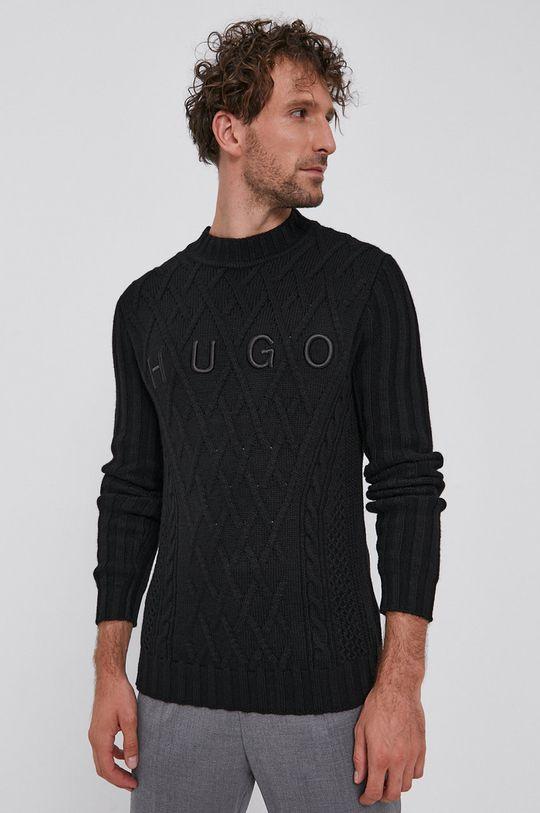 negru Hugo - Pulover De bărbați