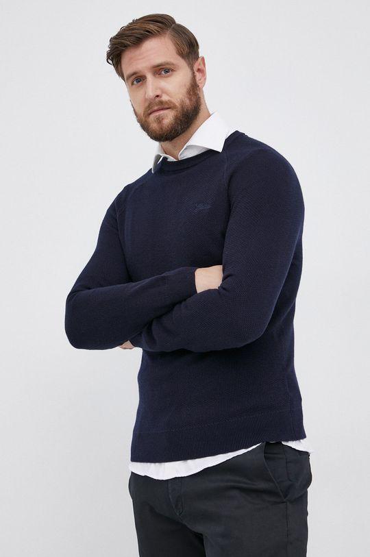 granatowy Guess - Sweter z domieszką wełny Męski