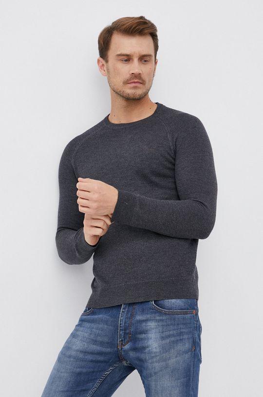 szary Guess - Sweter z domieszką wełny