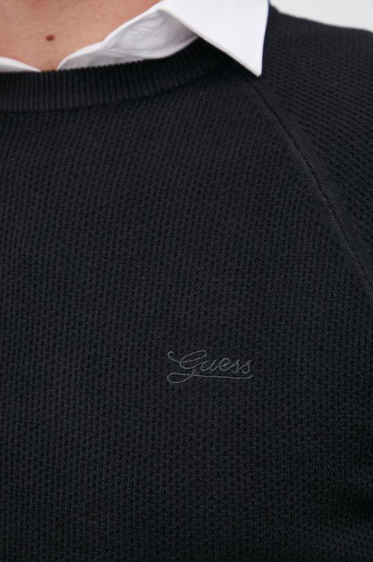 Guess - Sweter z domieszką wełny Męski