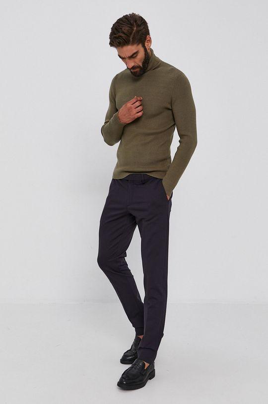 Guess - Sweter oliwkowy