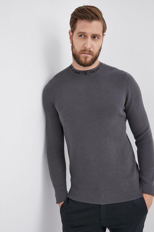 szary Calvin Klein Jeans - Sweter Męski