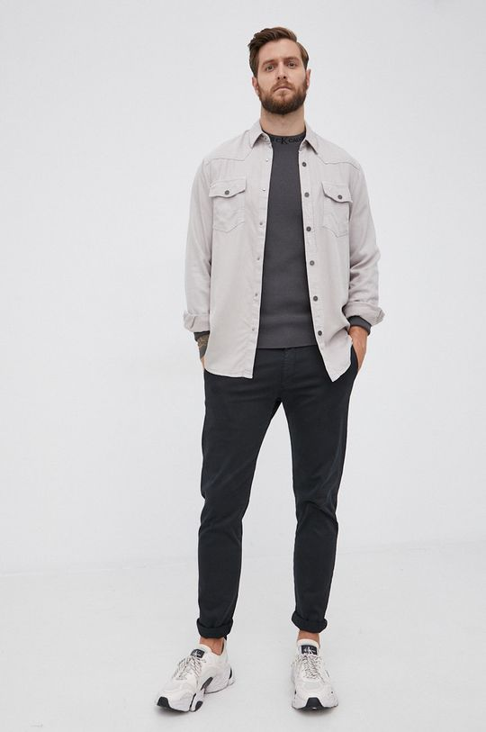 Calvin Klein Jeans - Sweter szary