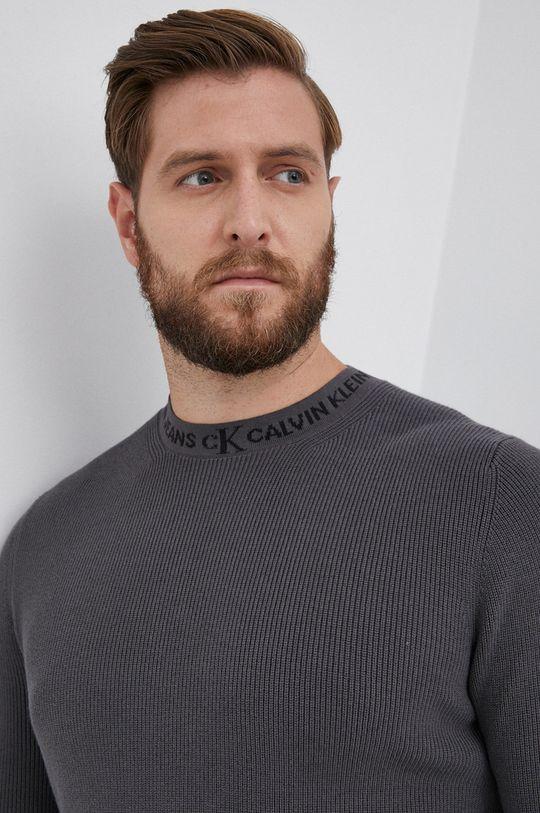 szary Calvin Klein Jeans - Sweter