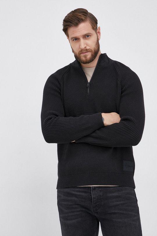 czarny Calvin Klein Jeans - Sweter Męski