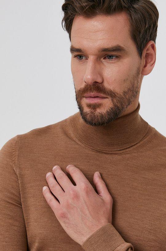 beżowy Boss - Sweter wełniany