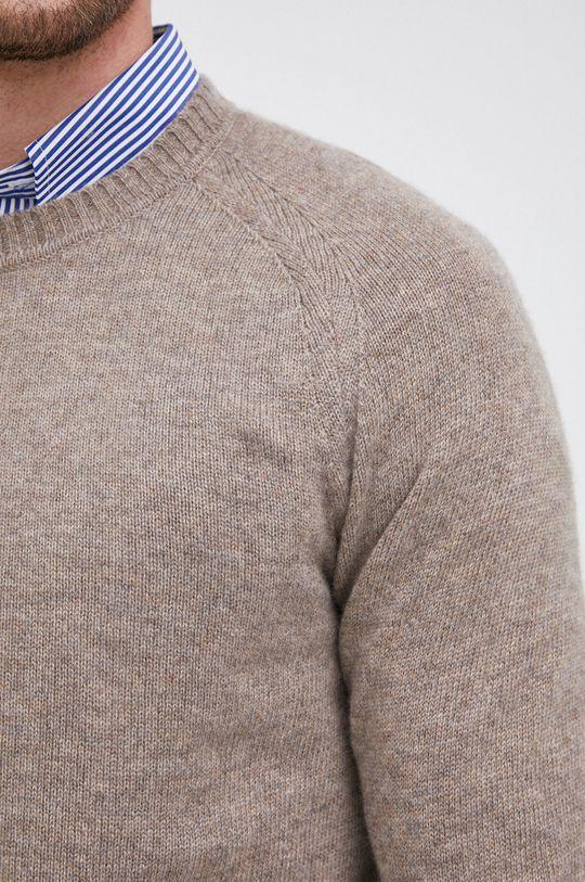 Boss - Sweter kaszmirowy Męski