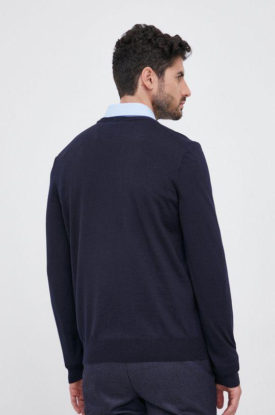 Boss - Sweter wełniany 100 % Wełna dziewicza