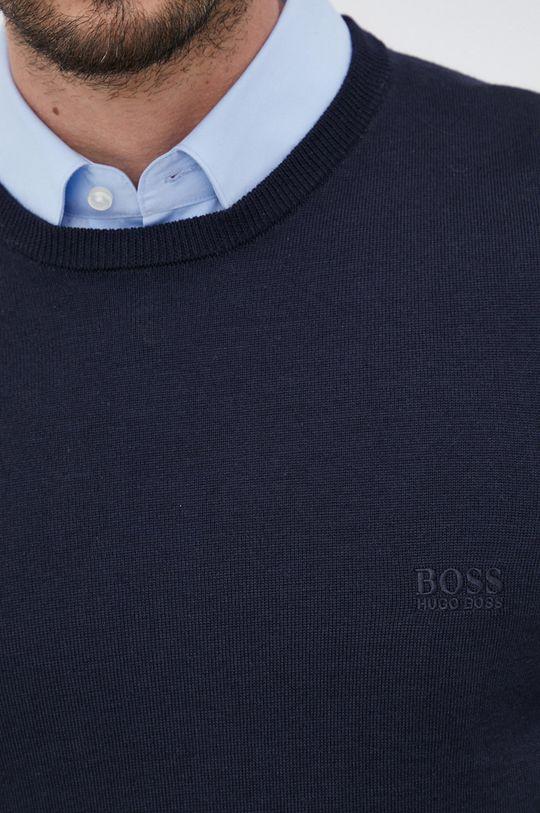 Boss - Sweter wełniany Męski