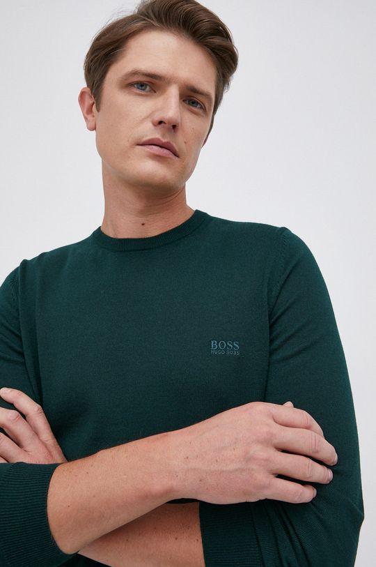 ciemny zielony Boss - Sweter wełniany