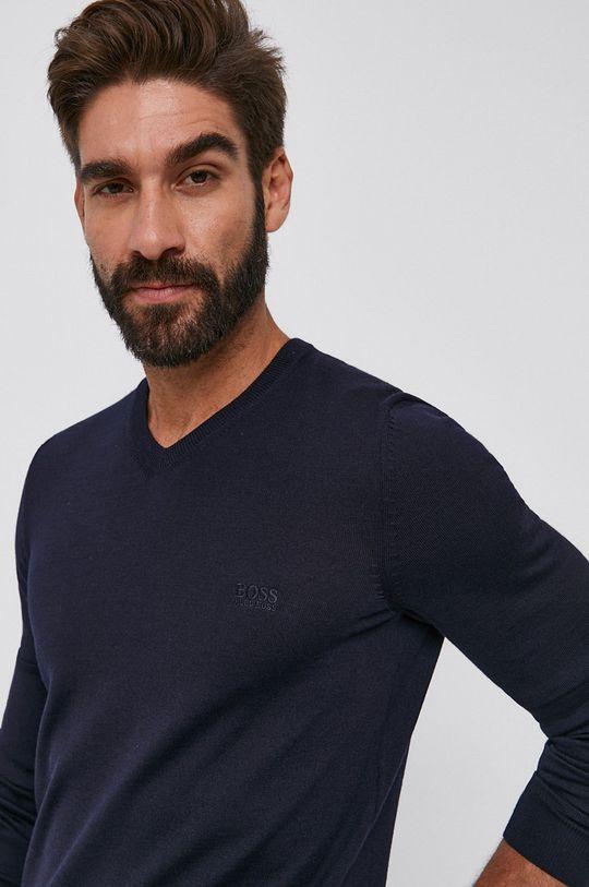 tmavomodrá Boss - Vlnený sveter