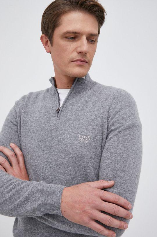 szary Boss - Sweter wełniany
