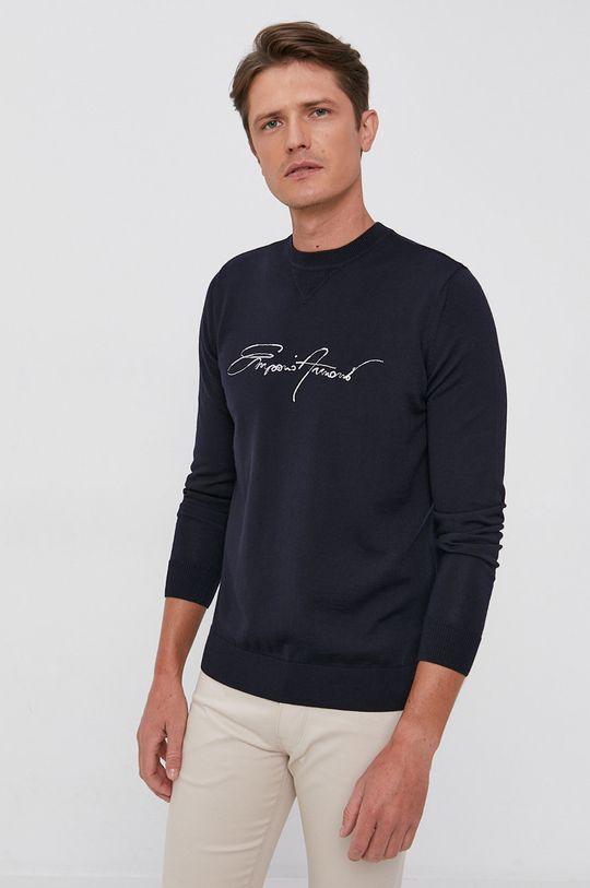Emporio Armani - Sweter wełniany granatowy