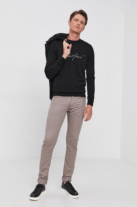 Emporio Armani - Sweter wełniany czarny