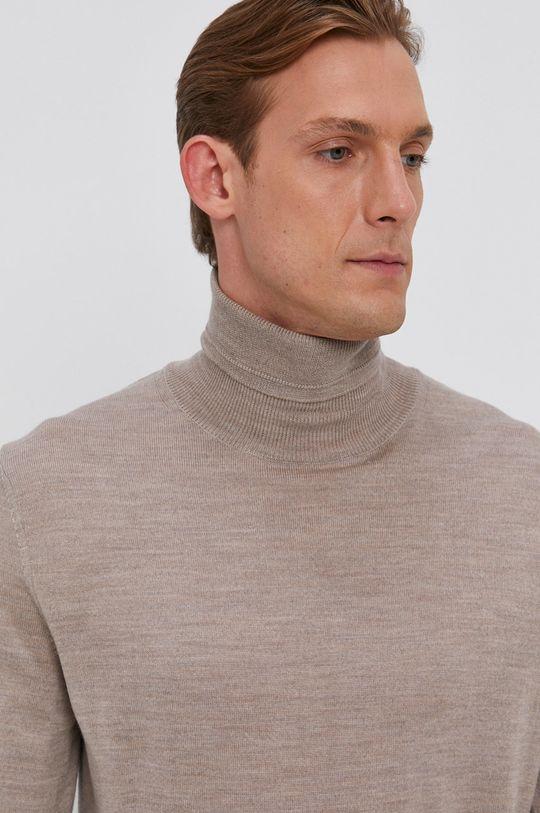 piaskowy Joop! - Sweter wełniany