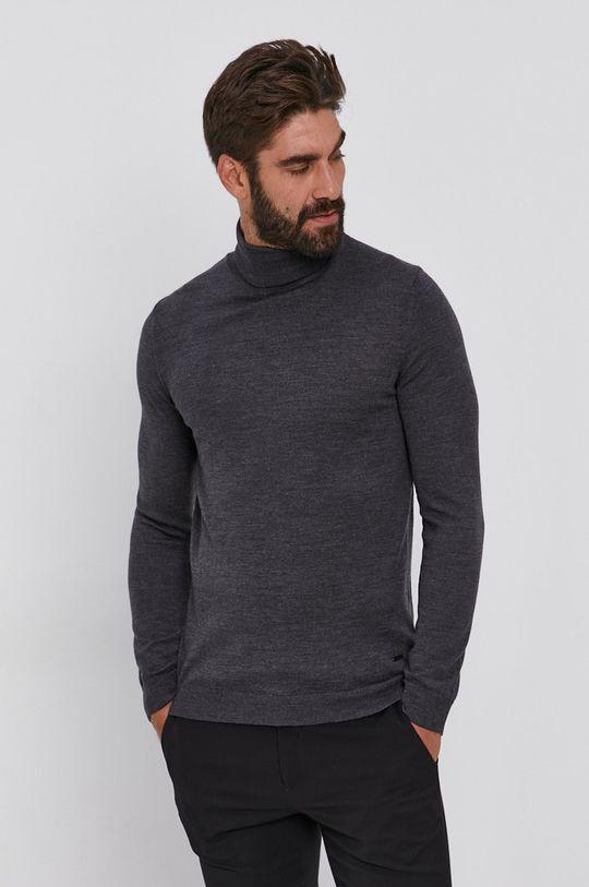 Joop! - Sweter wełniany szary