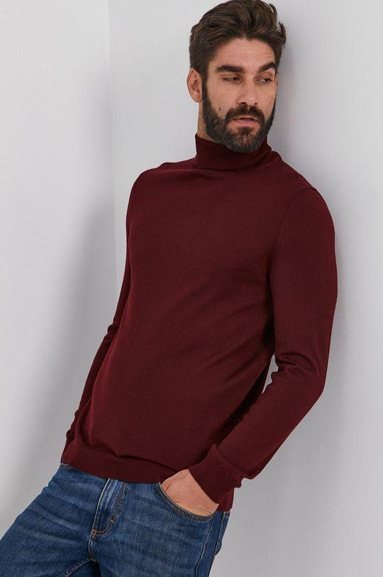 mahoniowy Joop! - Sweter wełniany Męski